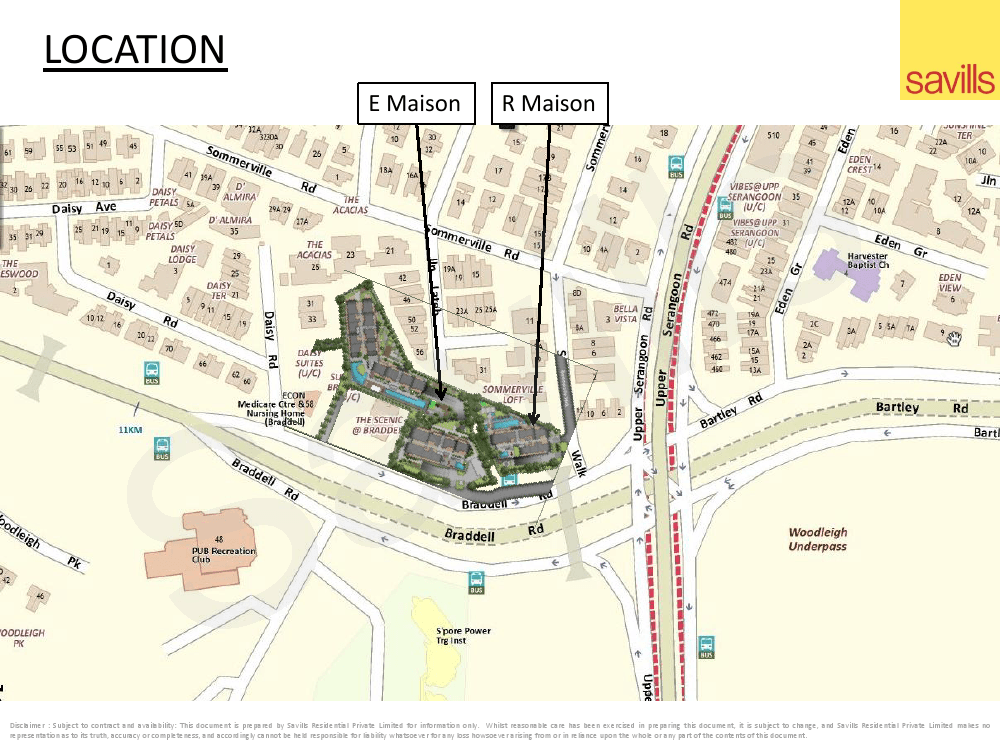 The Maisons location
