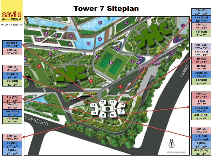 Site Plan for tower 7