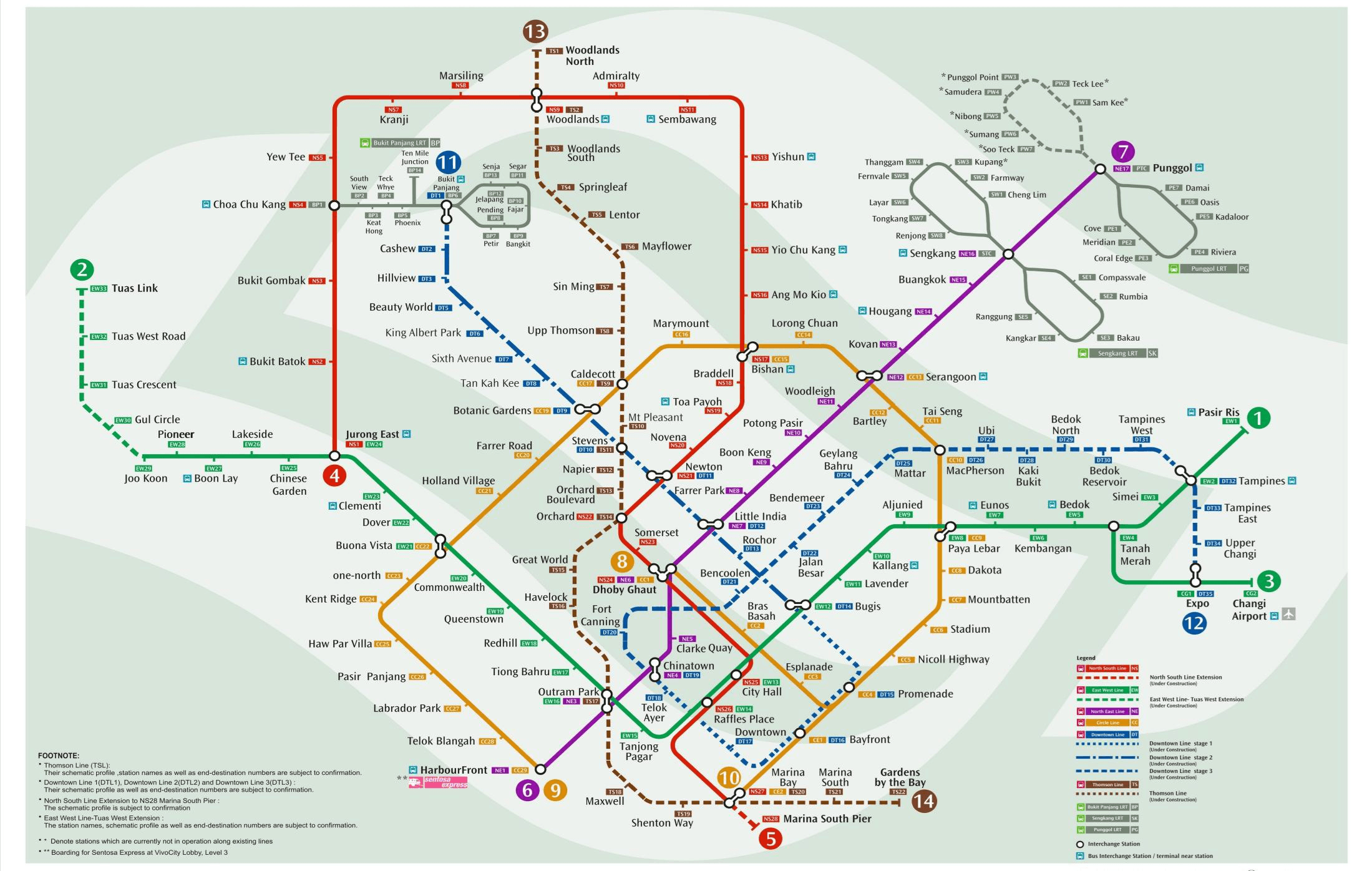 MRT Map with Downtown Line