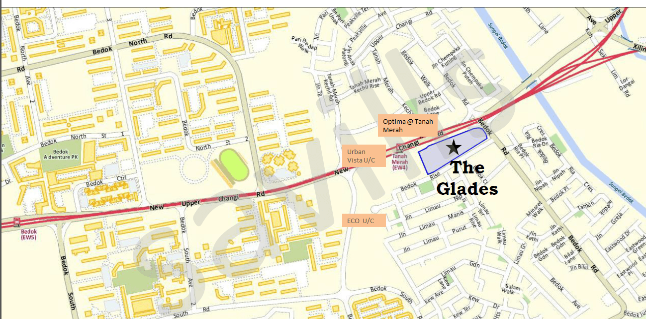 The Glades Location Directory Map