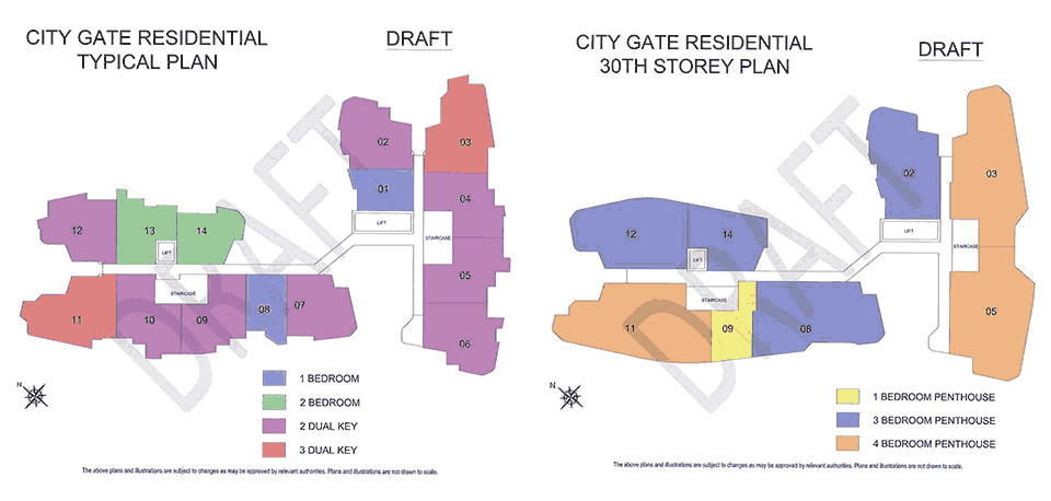 City Gate Residential Plan