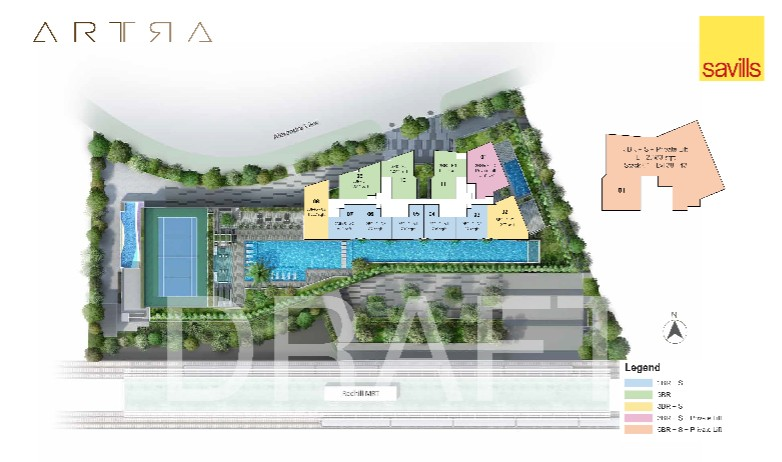 THE ARTRA SITE PLAN